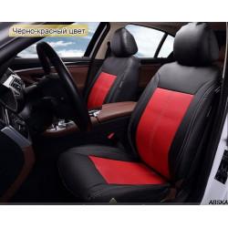 Универсальные чехлы на передние сиденья автомобиля 2-цветные из экокожи