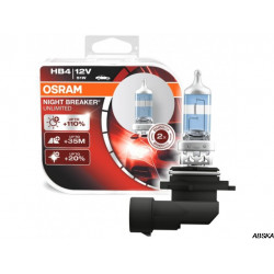 Набор галогенных ламп OSRAM HB4/9006 NIGHT BREAKER UNLIMITED (+110%)