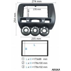 Рамка под мультимедийную систему для Honda Jazz 2002-2008