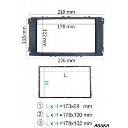 Рамка под мультимедийную систему для Ford Focus II, Мондео 2007-2011, Ford S-Max, C-Max 2007-2011, Ford Galaxy II 2006-2011, Ford Kuga 2008-2012