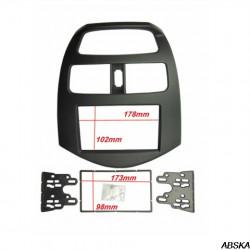 Рамка под мультимедийную систему для Chevrolet Spark 2010-2013, Daewoo Matiz, Daewoo Creative 2009-2011
