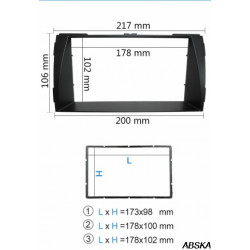 Рамка под мультимедийную систему для HYUNDAI Sonata NF 2004 - 2010