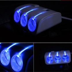 Разветвитель прикуривателя 5 в 1 с подсветкой